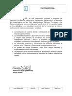 SIGDIR PO 01 Politica Integral