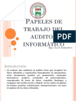 7 y 8 Papeles de Trabajo Del Auditor Informatico