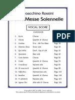 Petit Messe Solennelle Vocal score