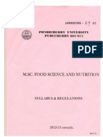 M.sc Food Science and Nutrition-110814