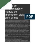 Cursos de Programación y Manejo de Información Digital Para Pymes
