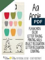A-Apple AlphabetCards COPYRIGHT2013 Mamamissdesigns