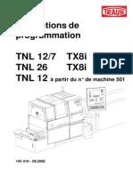 Manuel de Programmation TNL 12 TNL 26