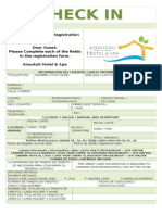 Tarjeta de Registro Anaukali