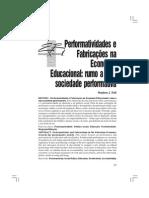 Performatividades e Fabricações na Economia Educacional
