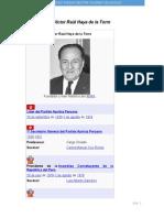 Víctor Raúl Haya de La Torre derecho internacional