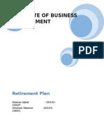 Retirement Plan Report