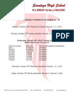 PSAT Weekly Schedule.10.28.2015