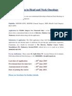 Fellowship HeadandNeck BrochureMay2015