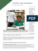Metodologia Científica_ Tipos de pesquisa - Artigos de Educação e Pedagogia - Portal Educação.pdf