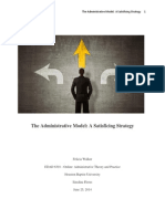 admin   theory the administrative model  satisficing
