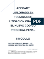 Tecnicas de Litigacion Oral 2do Modulo