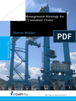 Energy Management Strategy for a Hybrid Container Crane