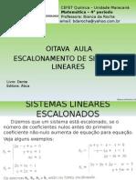 08 - Escalonamento de Sistemas Lineares (1)