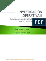 Investigación Operativa II - Teoría de Colas2015