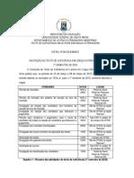 Edital para o Teste de Suficiencia - UFSM