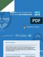 Inversión en Infraestructura Escolar 2003-2015
