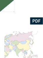 Mapa politico mudo de Asia