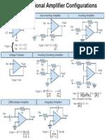 Basic Op-Amp Configurations Cheat Sheet