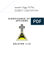 GOLDEN DAWN 1=10 - Significance of the Officers