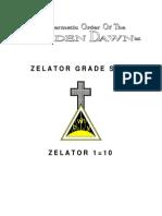 GOLDEN DAWN 1=10 - Zelator Grade Sign