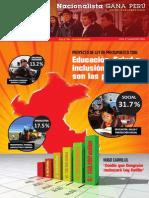 Boletín Nº 25 del Grupo Parlamentario Nacionalista Gana Perú