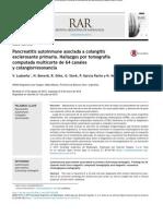 Pancreatitis autoinmune asociada a colangitis esclerosante primaria. Hallazgos por tomografía computada multicorte de 64 canales y colangiorresonancia