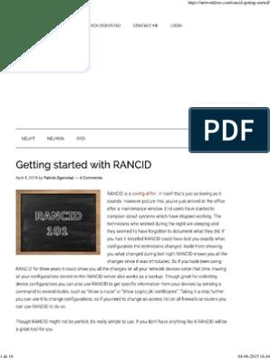Getting Rancid | Sudo | Operating System Technology