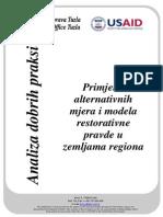 Analiza Dobrih Praksi Primjene Alternativnih Mjera i Modela Restorativne Pravde u Zemljama Regiona