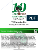 THS Treehouse Foods 2015 Investor Day