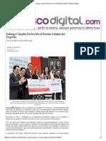 17-11-15 Entrega Claudia Pavlovich el Premio Estatal del Deporte - Peñasco Digital