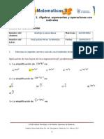 MII-U2- Actividad 1. Álgebra- Exponentes y Operaciones Con Radicales