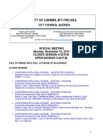 Special Meeting Agenda 11-30-15