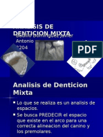 Analisis de Denticion Mixta
