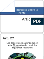 Requisitos de Las Deducciones-Art 27 ISR