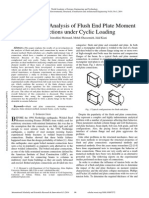 Finite Element Analysis of Flush End Plate Moment Connections Under Cyclic Loading