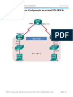 7.2.2.5 Lab - Configuring a Point-To-Point GRE VPN Tunnel