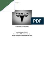 A Case Study of Tesla Motors