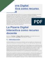 La Pizarra Digital Interactiva Como Recurso Docente