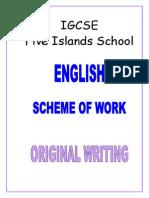 Year 10 IGCSE Original-Writing
