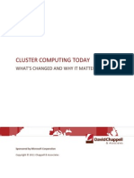 Cluster Computing Today, V1.1--Chappell