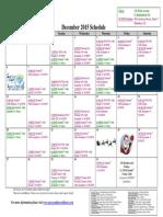 SCDNF December 2015 Schedule