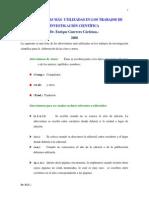 Abreviaturas Mc3a1s sUtilizadas en Los Trabajos de Investigacic3b3n Cientc3adfica