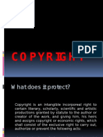 Intellectual property law on copyright