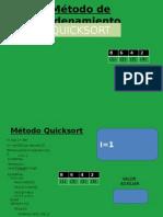 Método de Ordenamiento - QUICKSORT