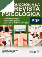Introduccion a La Entrevista Psicologica, Mirrian Collin Gorraez
