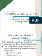Didáctica de La Biblia