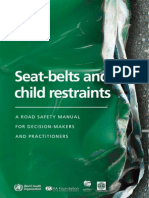 seat-belt and child restraints