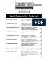 Indice - Revista Essentia Iuris - Pluralismo Jurídico y Derecho Penal