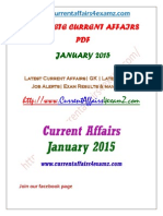 Complete Current Affairs PDF-January 2015